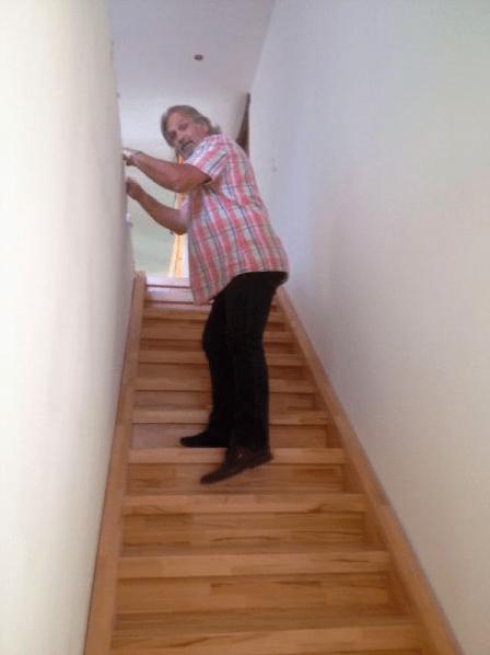 Treppe zum 2ten